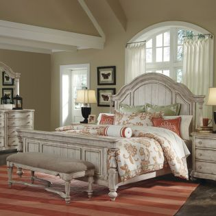 89135 Belmar  King  Panel Bed (침대+협탁) ~연예인 선택 1위 침대~
