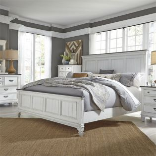 417-BR  Queen Panel Bed  (침대+협탁+화장대)