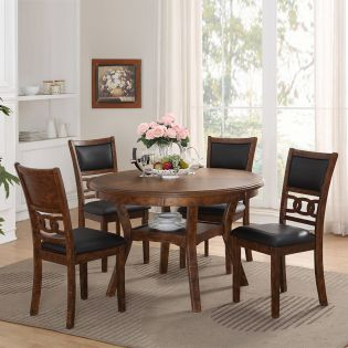 D1701 GIA-4  Round Dining Set  (1 Table + 4 Chairs)