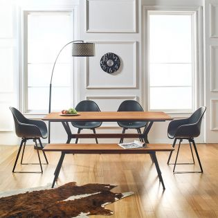 Ohio  Dining Set  (1 Table + 4 Chairs + 1 Bench)