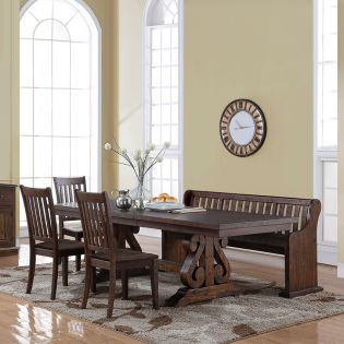 San Juan  Dining Set  (1 Table + 3 Chairs + 1 Bench)