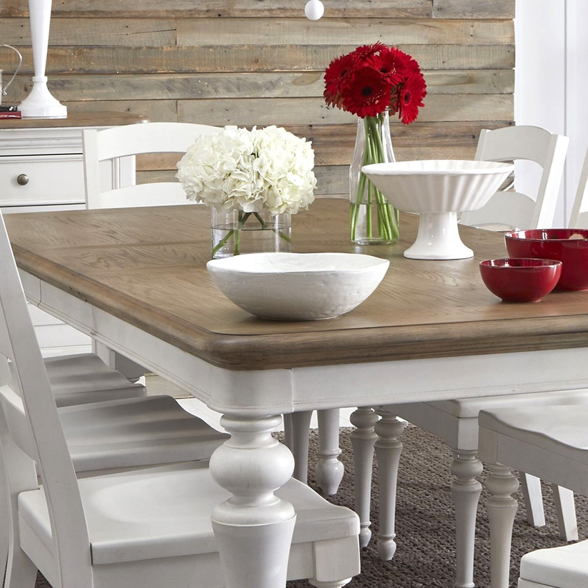 <b> Farmdale 9770L </b> Dining Set <br> (1 Table + 6 Side)