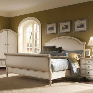Provenance 761  Sleigh Queen Bed (침대+화장대) ~French Design~