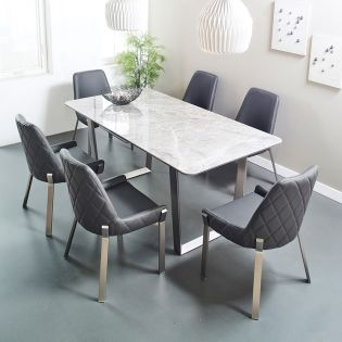 Valencia-6  Dining Set (1 Table + 6 Chairs)