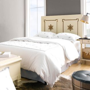 Cream & Gold-HB   Single Panel Bed