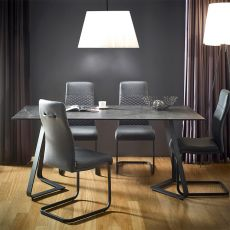 HT90057-4  Ceramic Dining Set  (1 Table + 4 Chairs)