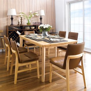 Guliver-6C-Brown  Dining Table