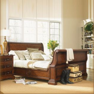 B1097 Sleigh King Bed  (침대+협탁+화장대)