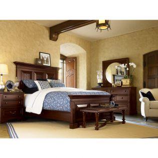 B1242 Panel Queen Bed (침대+협탁+화장대)