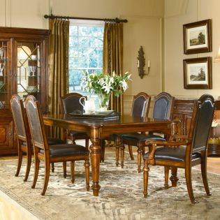 41220 Warwick  Dining Set  (1 Table + 2 Arm + 4 Side)
