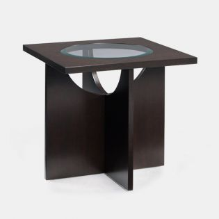 T1807-01 Wood Square  End Table