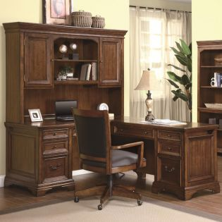 1208-48/44 Valencia  L Desk Without(No) Hutch