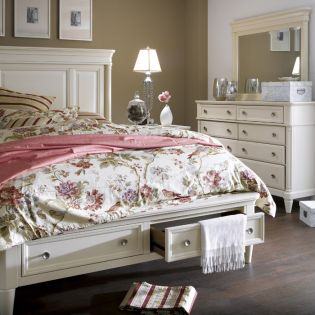 1725R Tuxedo Park  Storage Panel  Queen Bed (침대+협탁+화장대) ~Super Sale~