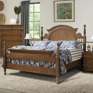 555 Hunters Ridge  Poster Queen Bed (침대+협탁+화장대)