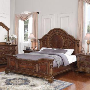 W1954 Talavera  Panel Bed (침대+협탁+화장대)