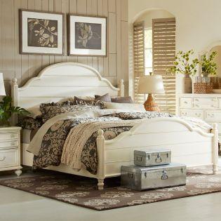 3510-4105K Haven  Low Poster Queen Bed (침대+협탁+화장대)