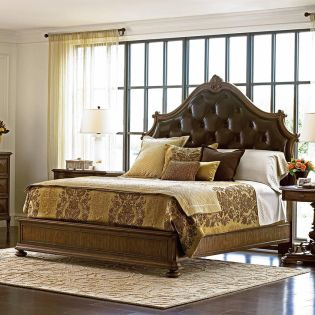 391-13 Villa Fiora  King Leather Bed (침대+협탁+화장대)