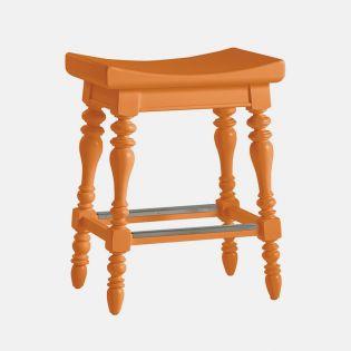 411-31-74 Orange  Counter Stool