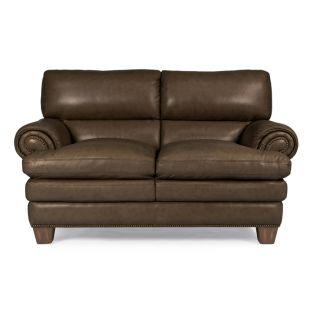 1530-20 Leighton  Leather Loveseat