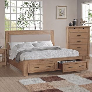 Malibu  King Panel Storage Bed Only (침대)