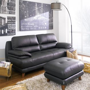 M8004-Brown  Leather Sofa