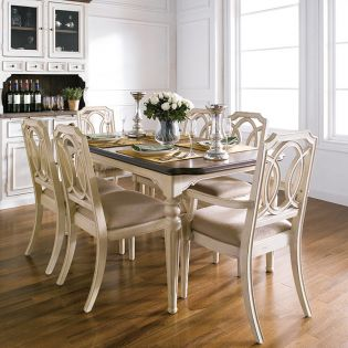 D7611-6  Dining Set(1 Table + 2 Arm + 4 Side)
