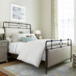 596310B Upholstered  Metal Bed (침대+협탁+화장대)