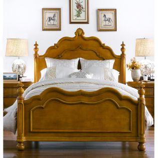 Lily-Brown  Single Panel Bed (침대) (매트 규격: 120cm x 203cm)