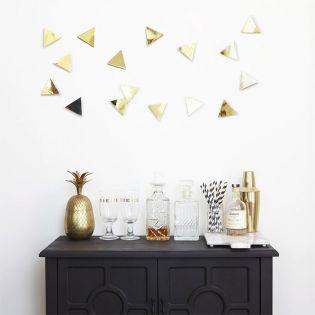 1004369-104  Confetti Triangles-Brass-16 Wall Decor