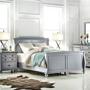 B3944-Grey  Sleigh Bed (침대+협탁+화장대)