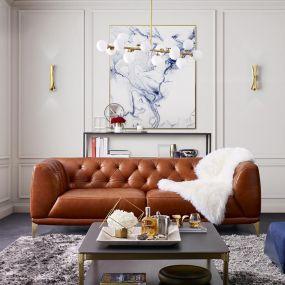 11810  Leather Sofa