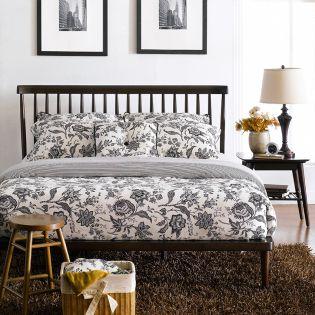 B3819-50  Queen Panel Bed (침대+협탁)