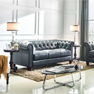 8687-30  Leather Sofa
