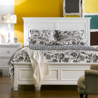 FR-Tamarack-White  Queen Panel Bed