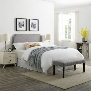 DS-D347-650-1 QN Clip Corner Headboard and Bench
