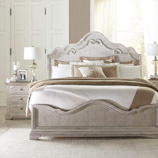 71672 Elizabeth  Panel Bed  (침대+협탁+드레서)