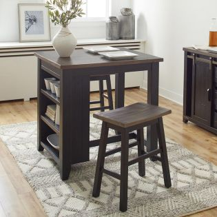 1702-36  3PC Counter Set  (1 Table + 2 Stools)