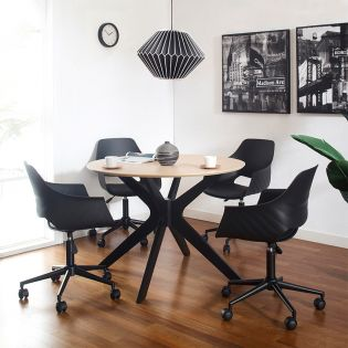 Duncan-4  Dining Set (1 Table + 4 Chairs)