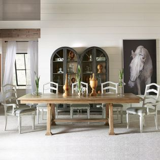76050 Madison  Dining Set  (1 Table + 2 Arm + 4 Side)