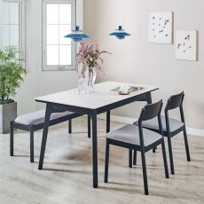Obey-4-Ceramic  Dining Set  (1 Table + 2 Chair + 1 Bench)