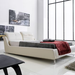 AY269  Leather King Bed