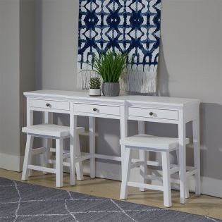 Heron Cove T4400  Console Table Set  (1 Table + 2 Stools)