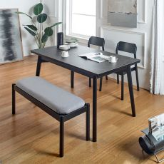 Obey-4-Ceramic  57 Dining Set  (1 Table + 2 Chair + 1 Bench)