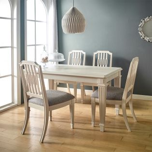 Caraway-4  Dining Set (1 Table + 4 Chair)