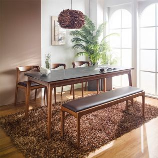 A9-6-Ceramic 57  Dining Set  (1 Table + 3 Chair + 1 Bench)