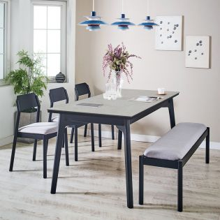 Obey-6-Ceramic   35  Dining Set  (1 Table + 3 Chair + 1 Bench)
