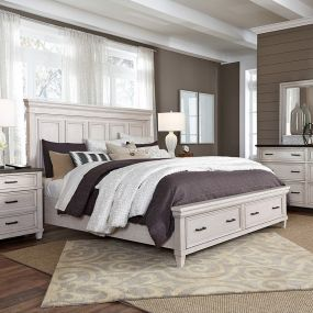 I248 Caraway  Bed w/ Storage  (침대+협탁+화장대)