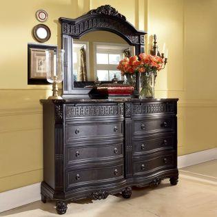 B651  Dresser & Mirror