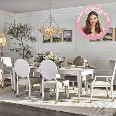 Miranda Kerr 956A653  Dining Set  (1 Table +2 Arm+ 4 Side)