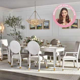 Miranda Kerr 956A653  Dining Set  (1 Table +2 Arm+ 4 Side)